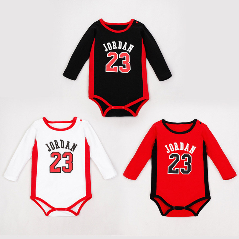 4c2661a0a757 Naughty Baby Basketball Clothes Jordan Baby Sport Body Baby Boy Clothes  Romper