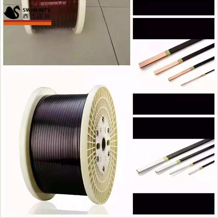 enamelled flat copper wire for rewinding of motors transformers