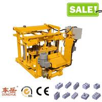 QT40-3A low investment plant fiber industrial slag concrete block making machine