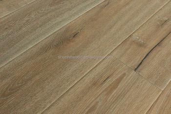 Geborsteld stained gerookte geolied houten vloer parket vloer