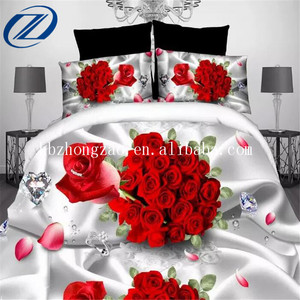 China wholesale 3d bed sheet printed duvet cover bedding set low price