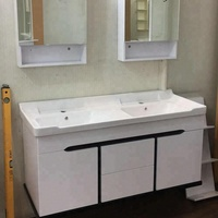 hot selling modern high quality 120cm double basins hanging bathroom vanity cabinet for middle east market