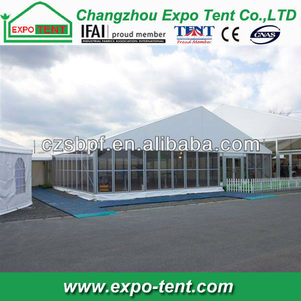 30x50m Aluminum Structures Frame Temporary Glass Wall Tent