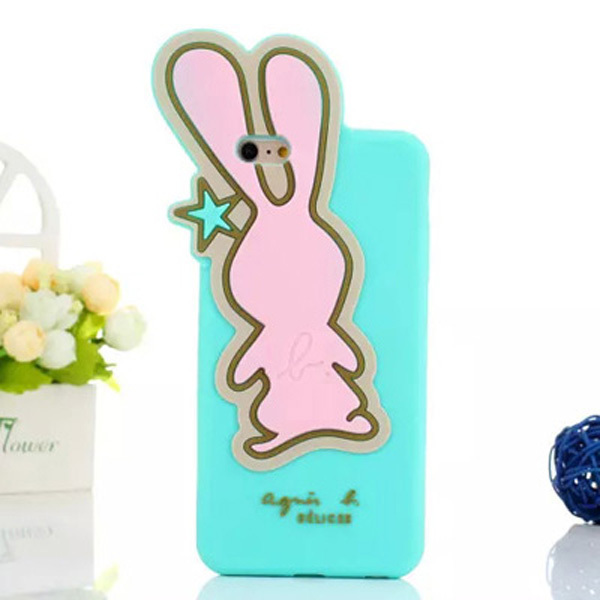 Free shipping 3d animal cute cartoon rabbit case for apple iphone 6 soft rubber skin for cute iphone 6 case 3d !