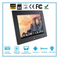 Brand new 10 inch wood digital photo frame electronic signage player