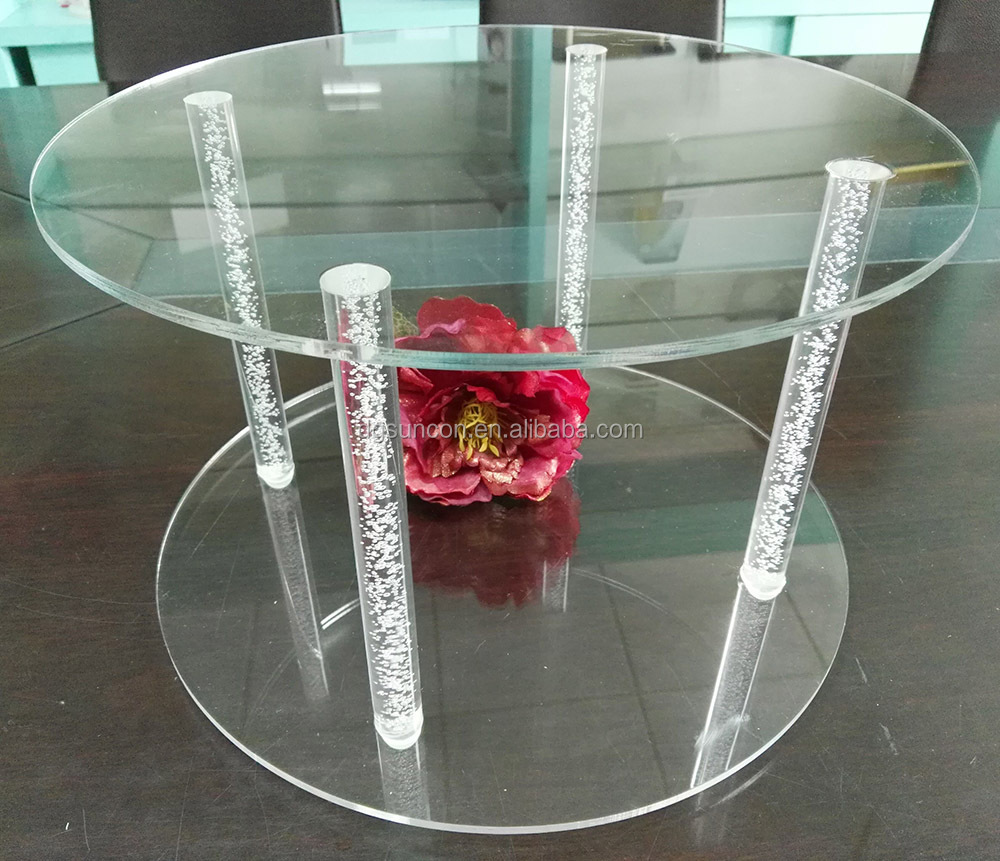 2 Tier Round Acrylic Display Stand