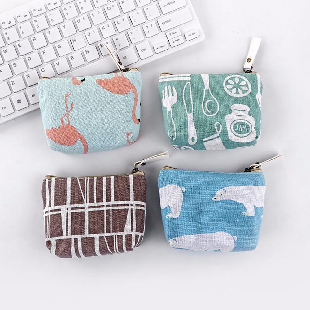Luggage & Bags Sanwood Cotton Linen Coin Storage Bag Key Headphone Purse Women Mini Wallet Pouch Kinder Portemonnee Meisjes Girl Coin Purse