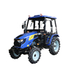 blue color China small 4wd 50hp tractor with heater cabin