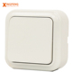 China sockets and switches1 gang 2 way wall mount button light switch,electric wall switch socket 220v