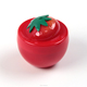 Sinicline new arrival adorable plastic jars strawberry cosmetic jar fruit shape