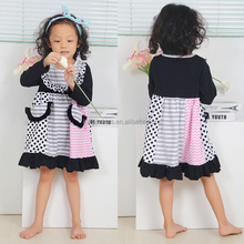 new fashion cotton lace long sleeve dresses girl cotton frock designs