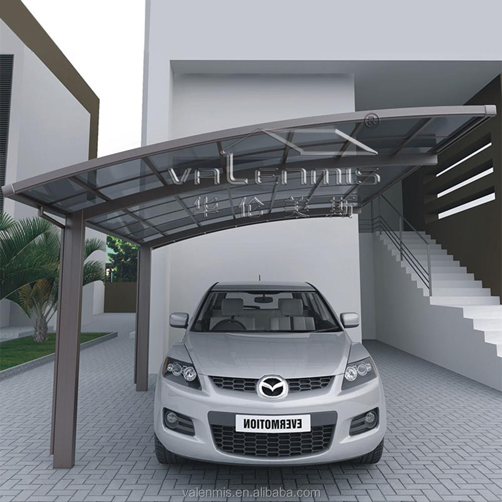 רק החוצה מודרני חניה לרכב חניה עיצובים לשפוך מחסן אלומיניום גן בחוץ חניה ZK-38