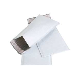 Good Quality Self-Seal Custom Delivery Use Protective Packaging Poly Air Cushion White Bubble Mailers Padded Envelope