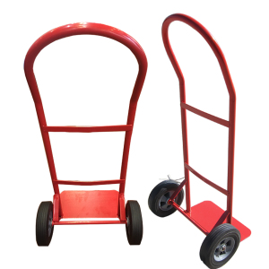 Utility metal industrial hand trolley with rubber wheel dolly
