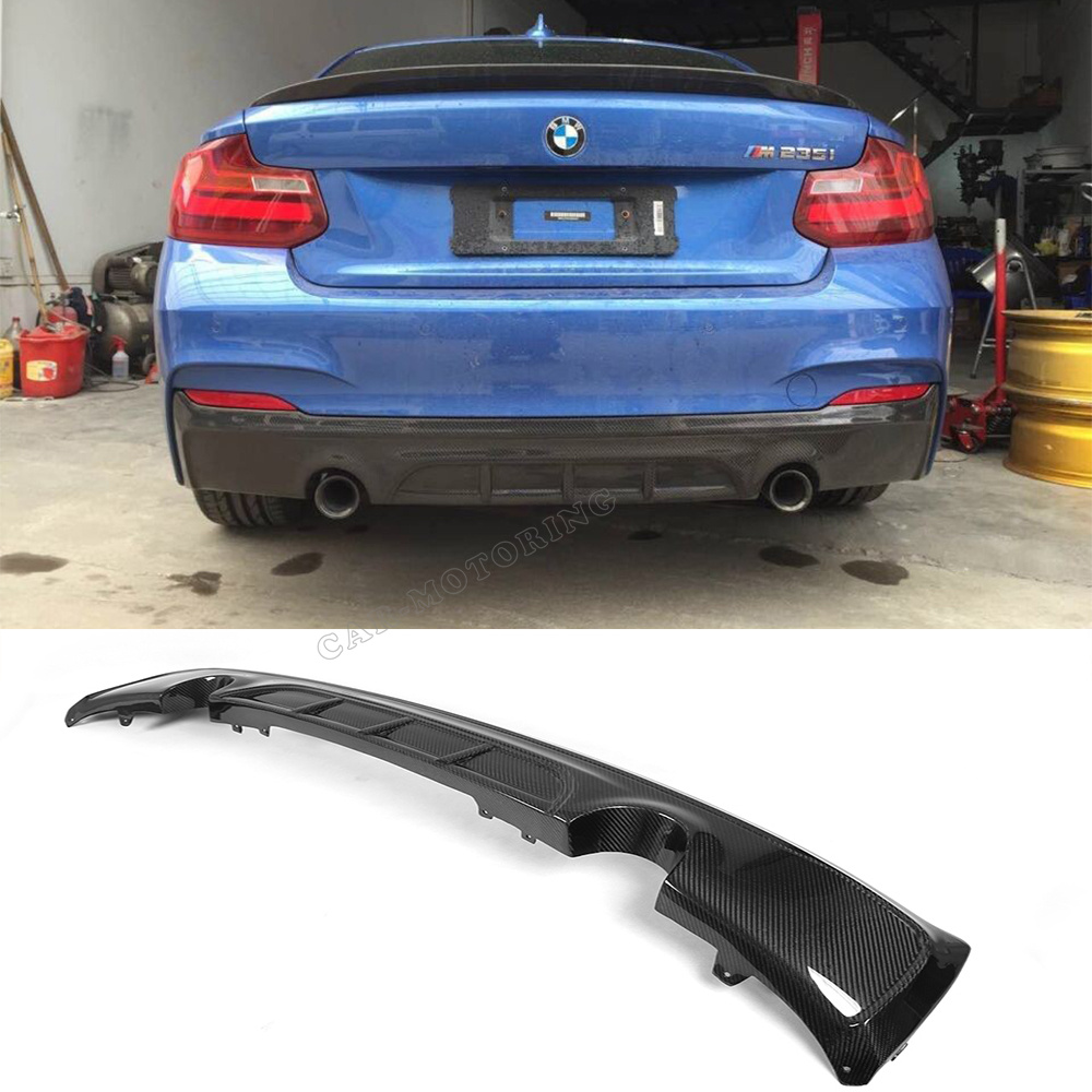 buy f22 m sport carbon fiber auto car styling rear bumper lip diffuser for bmw. Black Bedroom Furniture Sets. Home Design Ideas