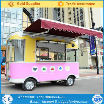 Remorque snack crepe waffles mobile food carts food truck for Remorque cuisine mobile