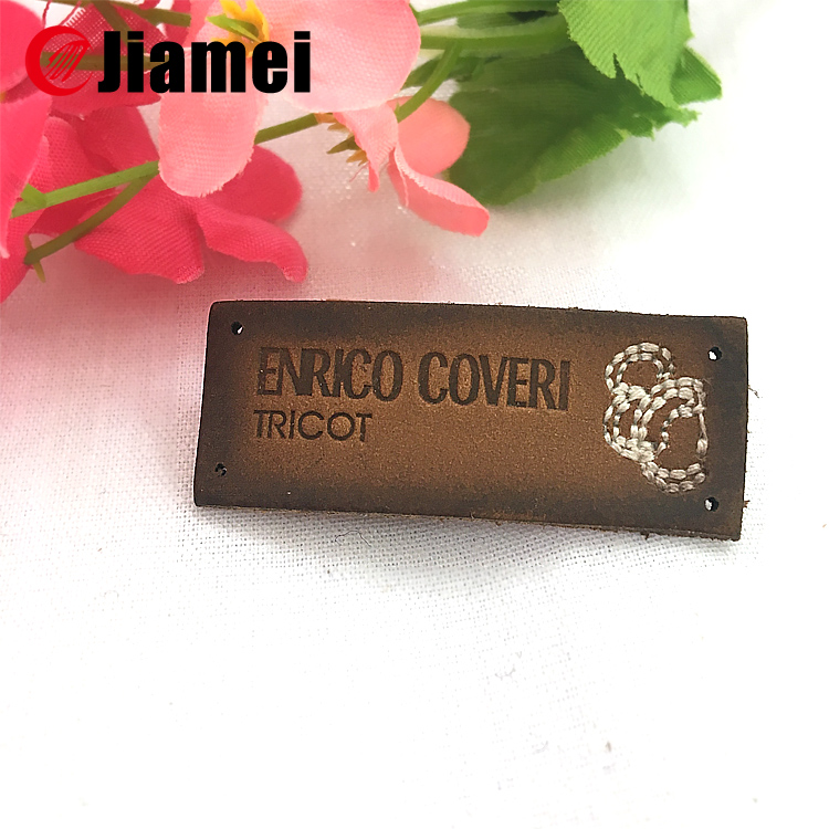 Jiamei Factory made clothing leather logo embossing stamp on label leather