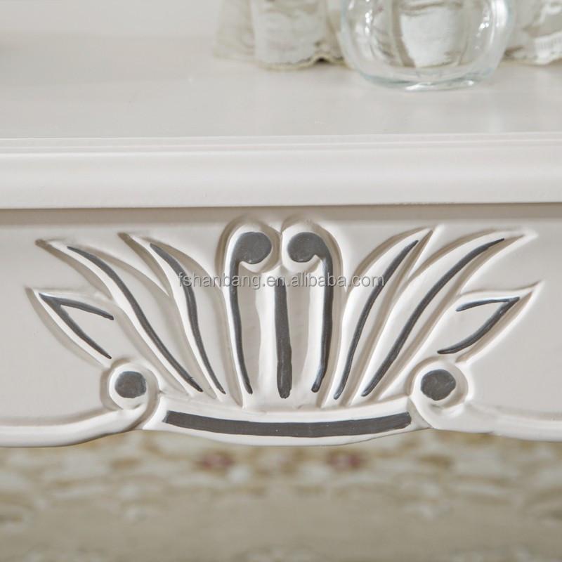 Marfil blanco barroco muebles franceses de madera tallada a mano ...