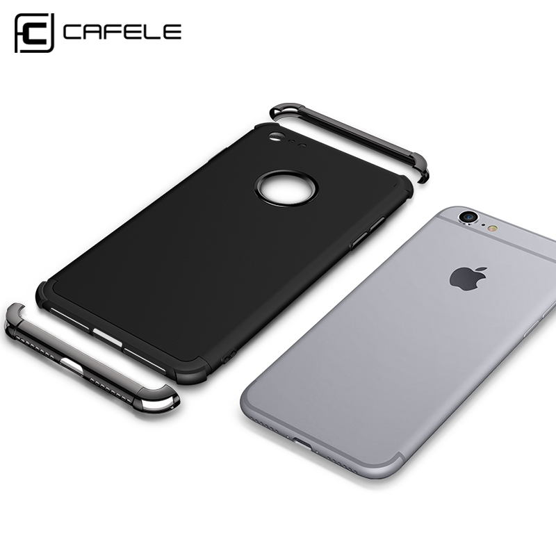 CAFELE 2 in 1 Invisible Magnetic Phone case with TPU Anti-fingerprint Phone Back Cover for iphone 8 /8plus for iphone X