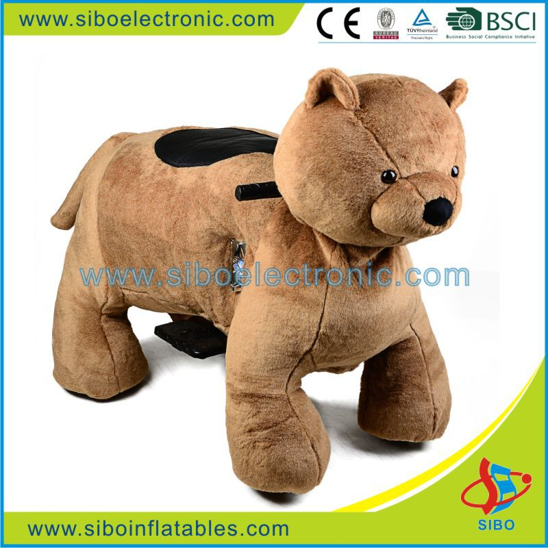 GM59 Amusement park electric ride on animals,adult bear costume for riding