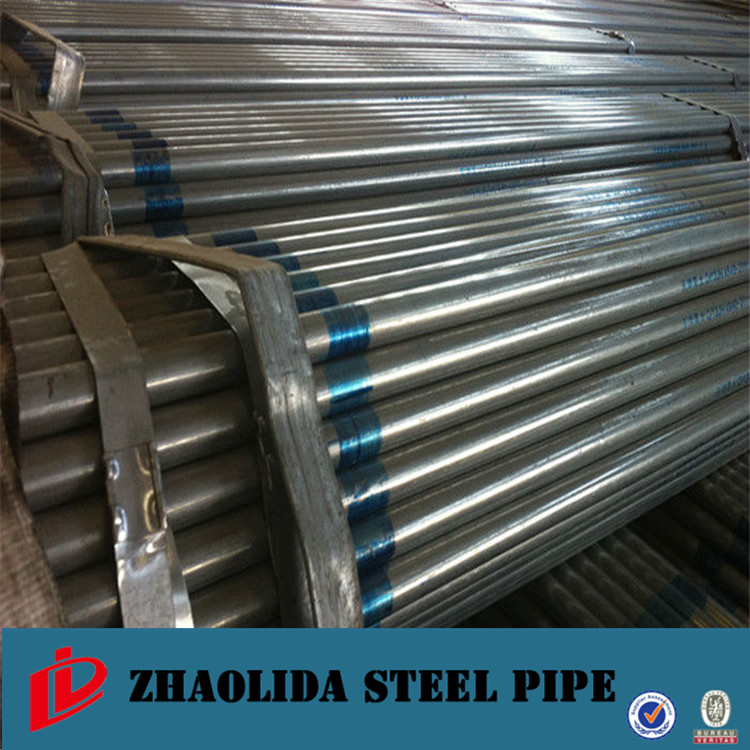 steel gi pipe ! both end threaded galvanized pipe ship sides galvanized pipe