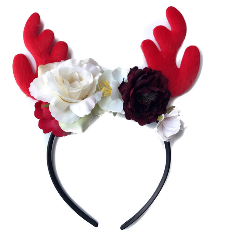 Hot sale christmas children headband artificial flower headband popular
