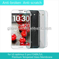 2013 Newest model superior quality tempered glass screen protector for LG GPro
