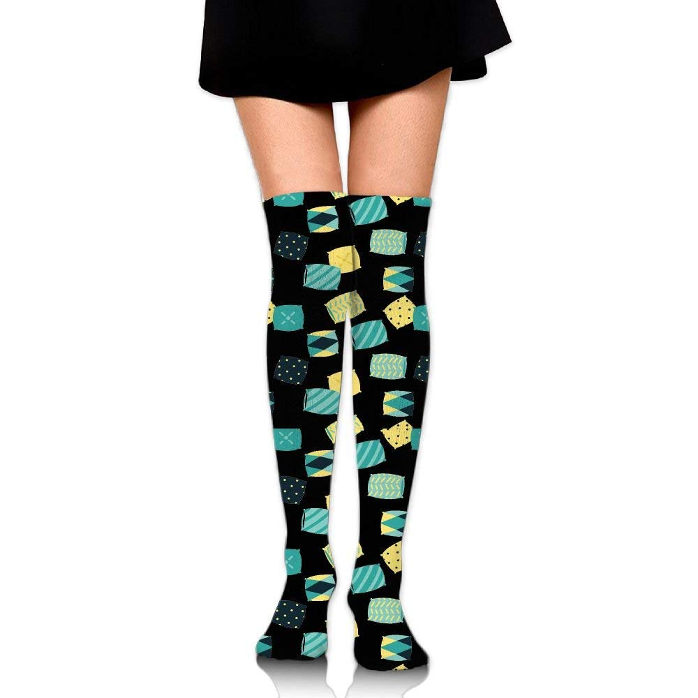06d0f0528521 Get Quotations · Sloth In Mint And Yellow Color Girls Over The Knee Thigh High  Stockings Sexy Socks