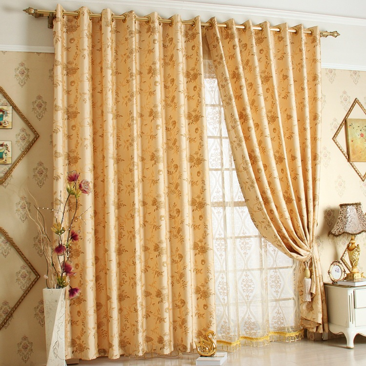 Luxury High Quality Jacquard Window Curtains For living Room/ Bedroom Blackout Curtains Window drapery Luxury Curtain Home Decor
