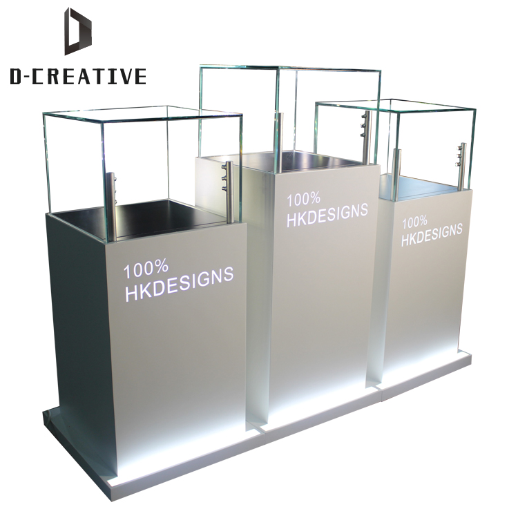 exclusive hot sale lockable glass vitrine jewelry display table counter display case for jewelry showcase furniture