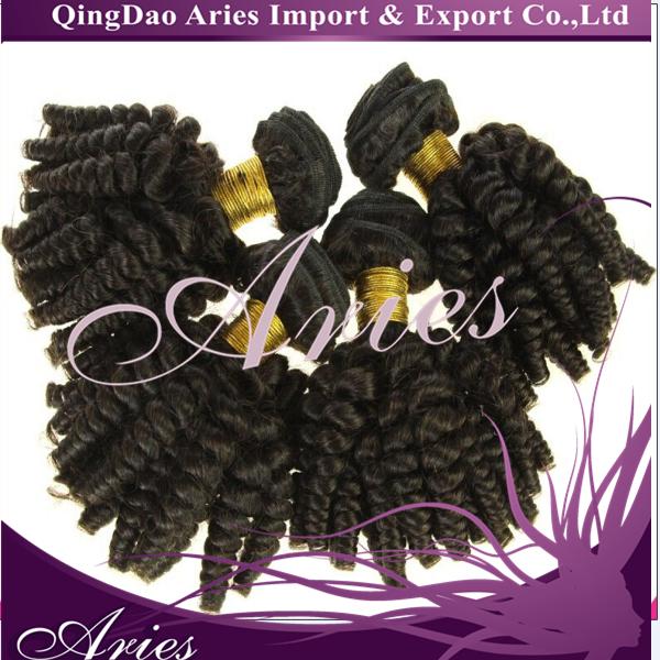 Peruvian Hair Weaving Black Color Hair Bundle Double Drawn Peruvian Hai