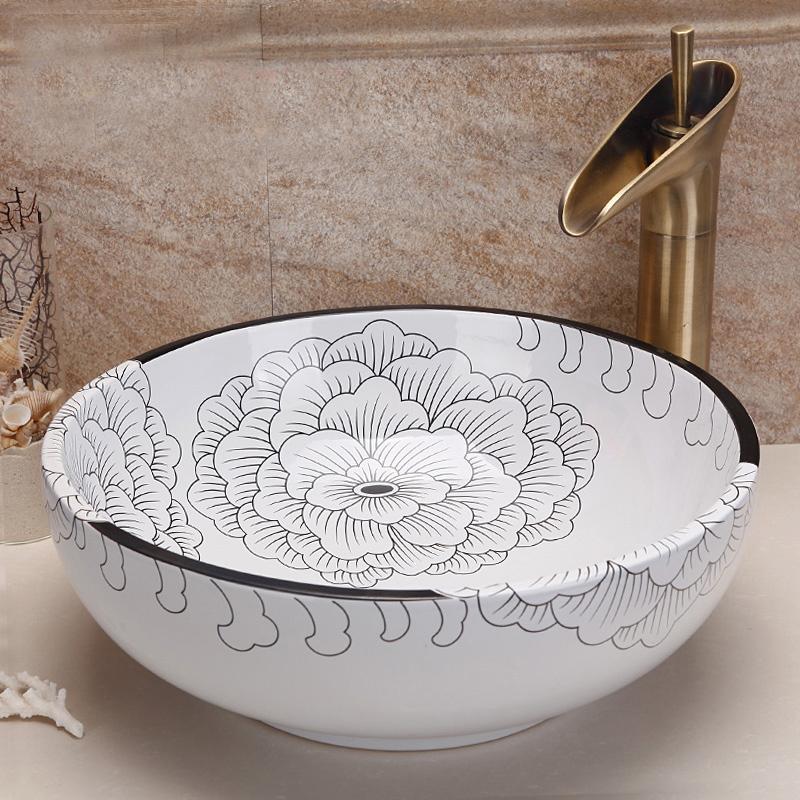 online kaufen gro handel keramik waschbecken schalen aus china keramik waschbecken schalen. Black Bedroom Furniture Sets. Home Design Ideas