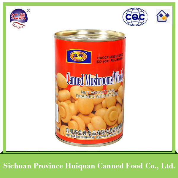 High quality canned mushroom slices
