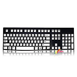 Leze - Ultra Thin Silicone Keyboard Protector Skin Cover for Logitech models K120, MK120 - Semi White