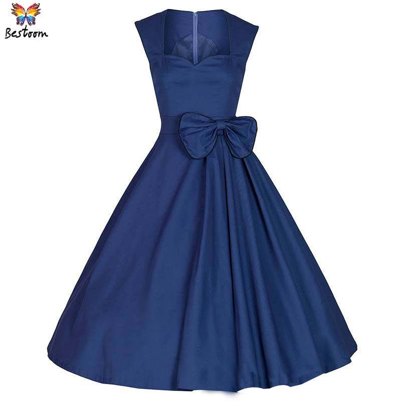 d8062e1820f Get Quotations · 50S 60S Rockabilly Elegant Retro Tutu Dress Women 2015 New  Fashion Vintage Bow Tunic Festa Dance