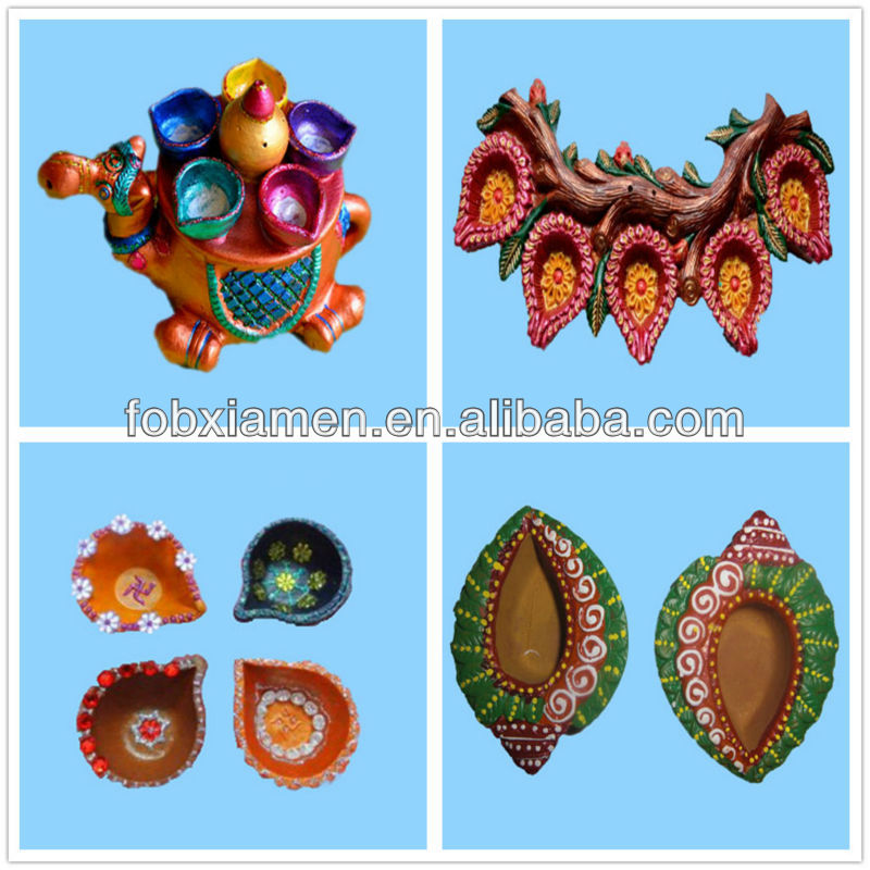 Customized Terracota Candle Diyas Diwali Decorative Lights