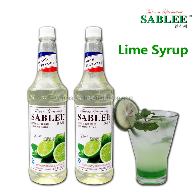 SABLEE lime syrup 900ml sweet taste and beverage product type syrup