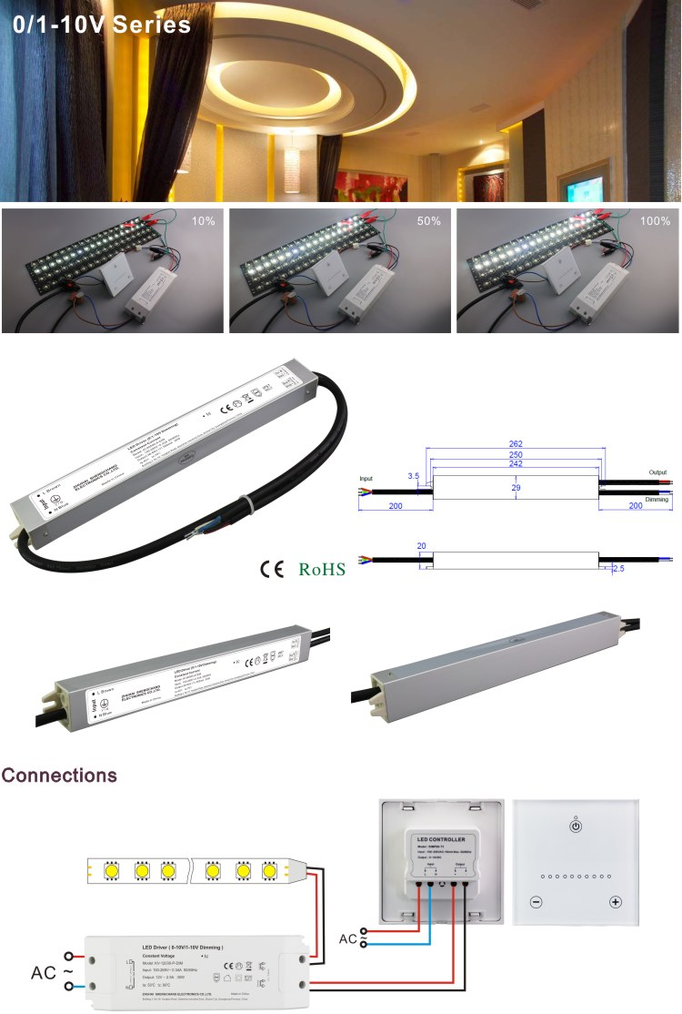 High Quality 100-265VAC 15-25V 700ma DC Constant Current 20W IP67 Waterproof LED Power Supply