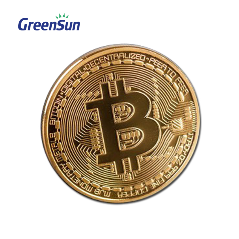 Gold Commemorative Professional Making Brass <strong>Iron</strong> Zinc Alloy Stamped Silver Plated Customized Challenge Bitcoin Coin