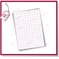 inkjet a4 size light tshirts printing red grid heat transfer paper