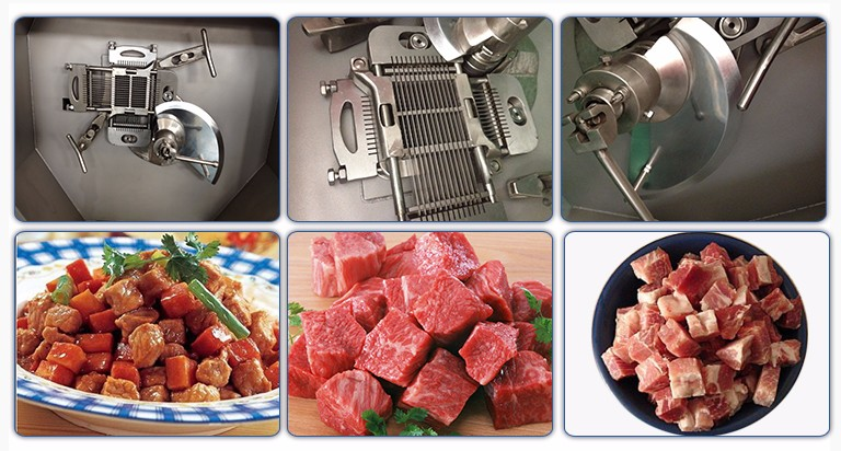 Frozen chicken breast meat cuber dicer cutter cutting dicing machine for sale