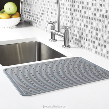 Sink Mat Silicone Drainer Collapsible Dish Rack With