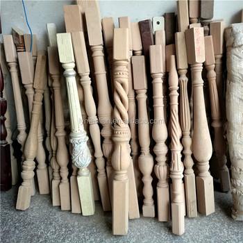 Red Oak Handrail Wood Stair Spindles