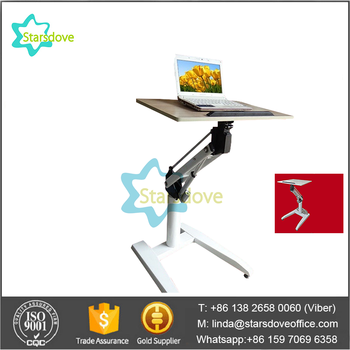 Starsdove Floor Stand Laptop Desk Adjustable Computer Workstation