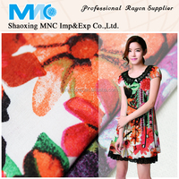 rayon print fabric yard/meter textile manufacturer from shaoxing