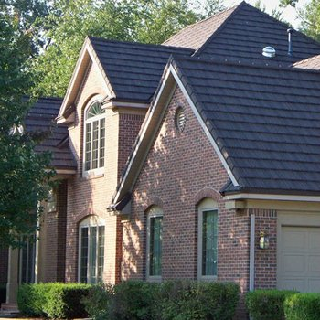 Anti Fading Wanael Low Cost House Construction Material,stone Coated Metal  Roof Tile,