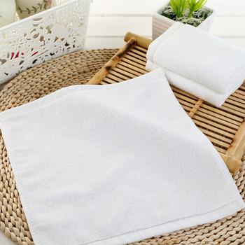 100 cotton custom hand towel plain white custom luxury fancy hotel