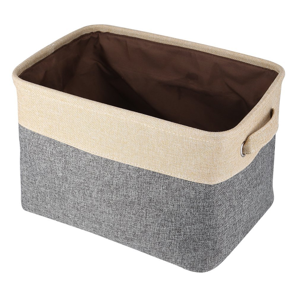 Collapsible Storage Bin Rectangular Fabric Storage Bin Organizer Basket with Handles for Clothes Storage Toy Organizer Pet Toy Storing Kids Basket Baby Bin