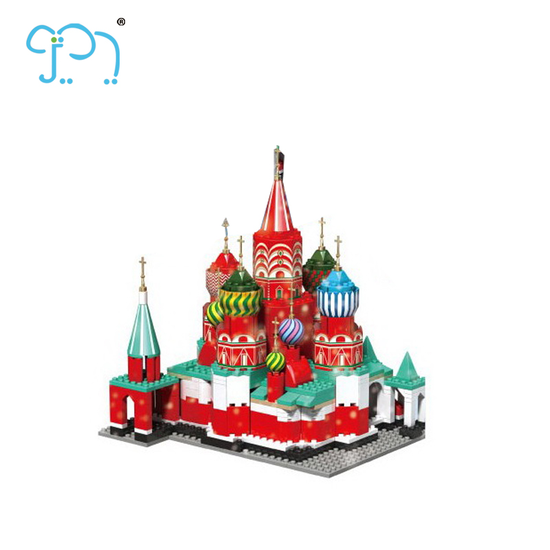 Building Blocks Toys Building Blocks 600 PCS Miniature Church For Kids Toy Outdoor Building Blocks With CE Certificate