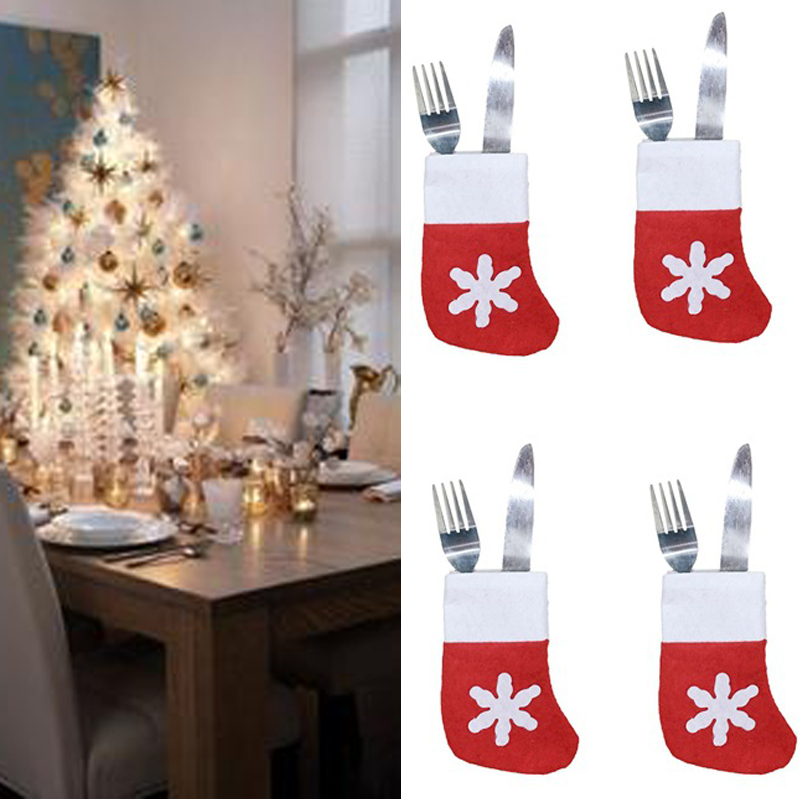 <strong>Christmas</strong> Ornaments <strong>Christmas</strong> Mini Socks Dressware Small Socks Tableware Dinner Party Decor Cutlery Holder <strong>Christmas</strong> Decorations